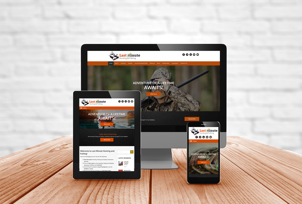 Mobile-Friendly, Responsive Website Design For Outfitters and Lodges Newfoundland Canada