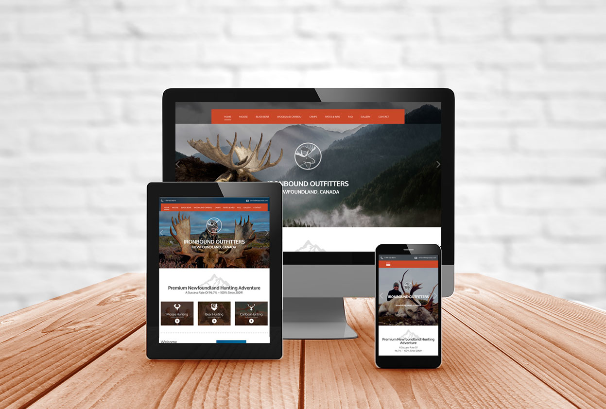 Responsive Website Design For Hunting Outfitters