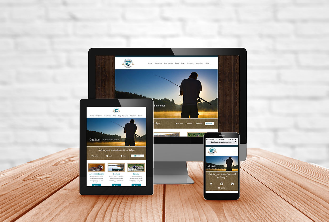 Website design for Fishing Lodge NL