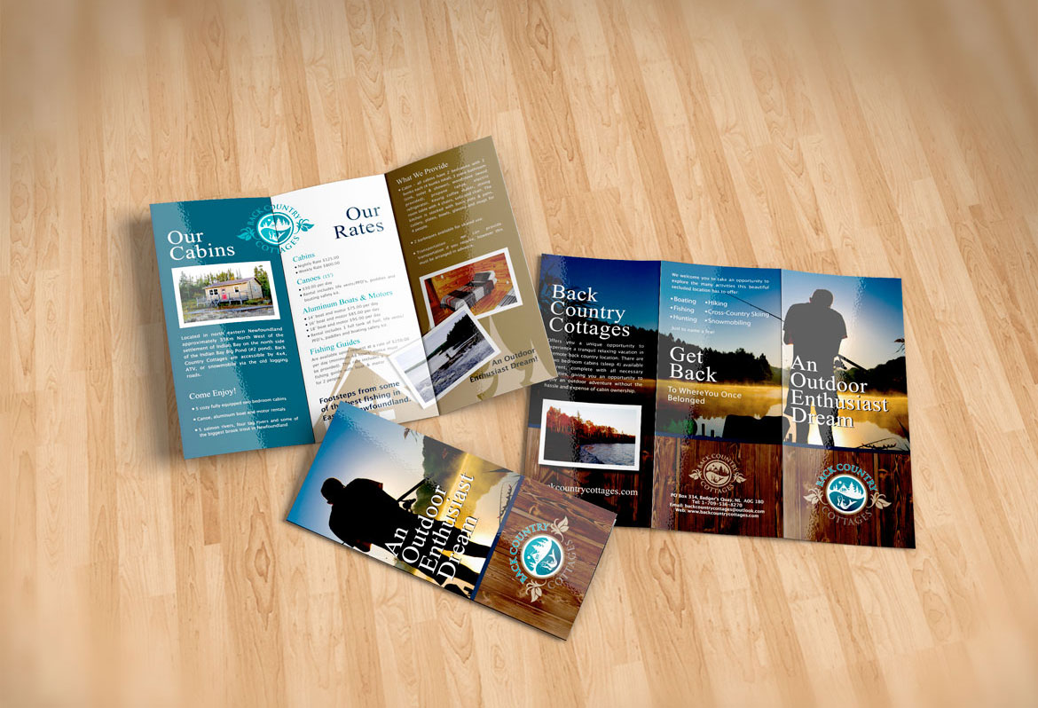 Brochure Design for Cottage Rentals NL Canada