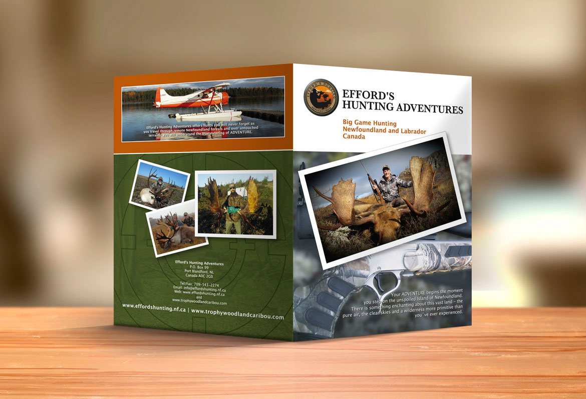 Brochure Design for Hunting and Anventure NL Canada