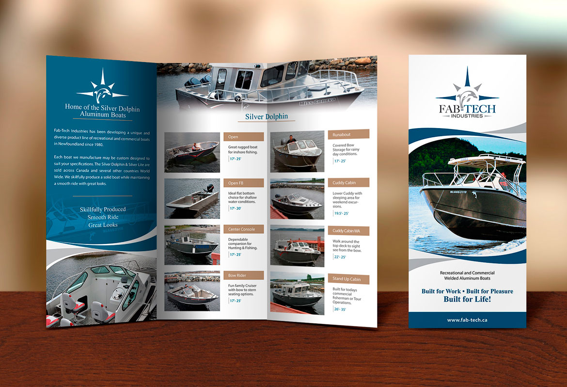 Brochure Design for Boat Building Company NL