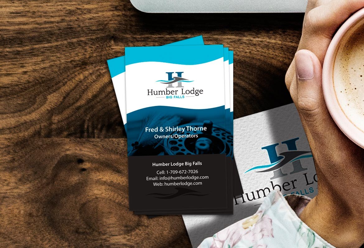 Fishing Lodge Business Card Design Services NL Canada