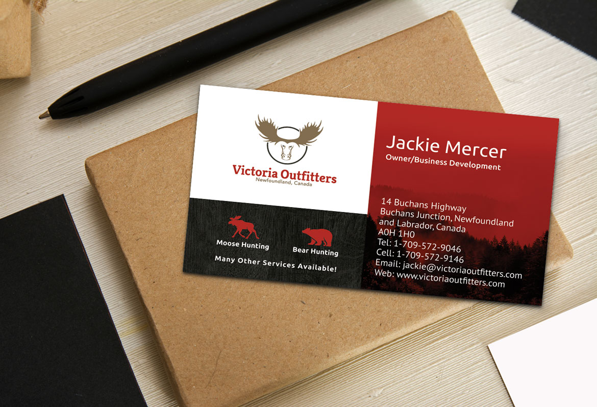 Hunting Outfitters Business Card Design Services NL Canada